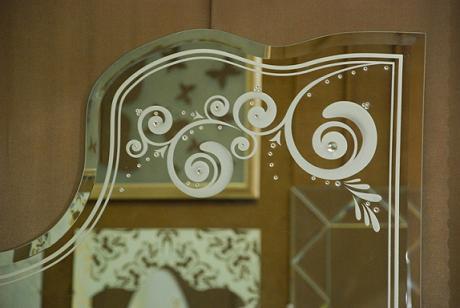 Пескоструйная обработка зеркал